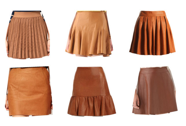 Cognac Leather Skirts | PRETTY Polished