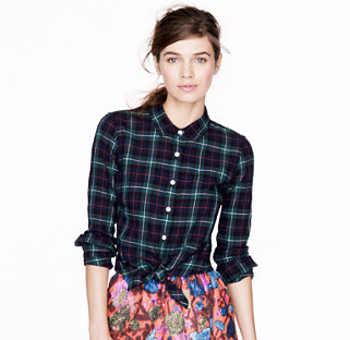 JCrew Plaid