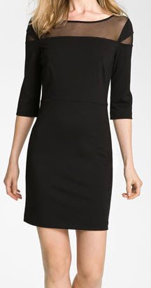 BB Dakota Mesh Yoke Dress