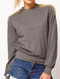 Asos studded sweatshirt