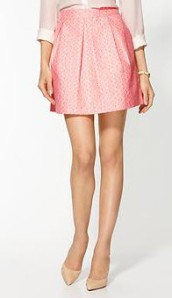 Jacquard Pleated Skirt