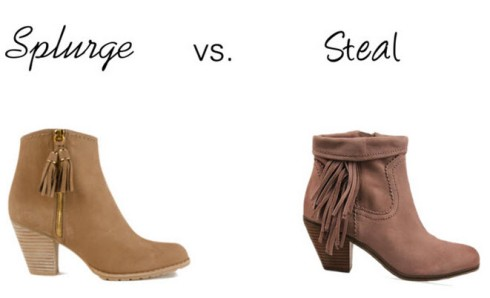 Splurge vs. Steal - Booties