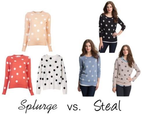 Splurge vs. Steal - Polka Dot Cashmere