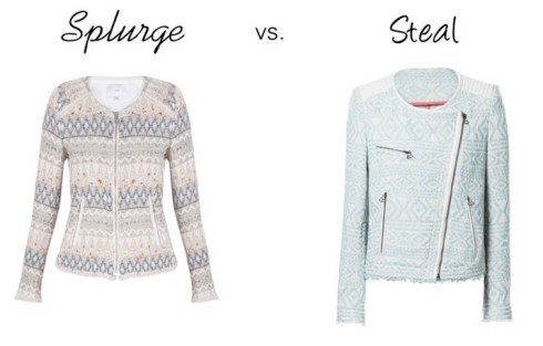 Splurge vs. Steal - Ikat Blazer