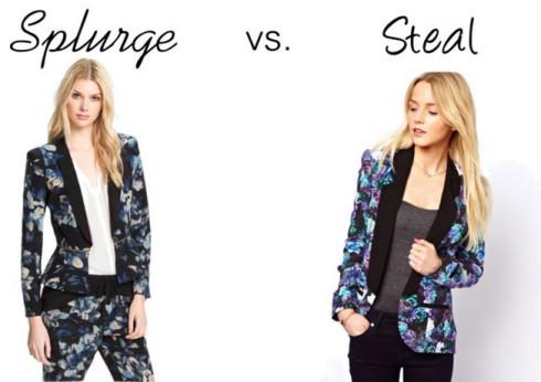 Splurge vs. Steal - Floral Blazer