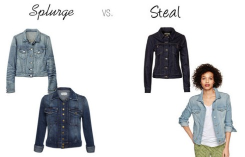 Splurge vs. Steal - Denim Jacket