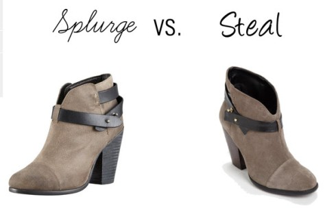 Splurge vs. Steal - Harrow Booties