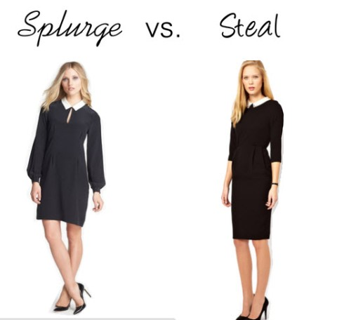 Splurge vs. Steal - Black Collar Dress