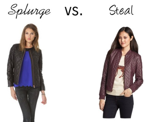 Splurge vs. steal - quilted leather jacket
