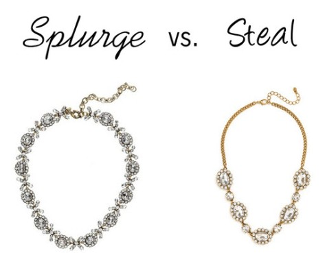 Splurge vs. Steal - garland necklace