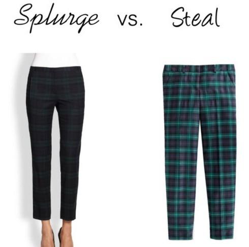 Splurge vs. Steal - Plaid Pants