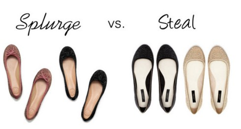 Splurge vs. Steal - Sparkly Flats