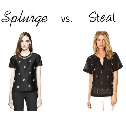 Splurge vs. Steal - jeweled top