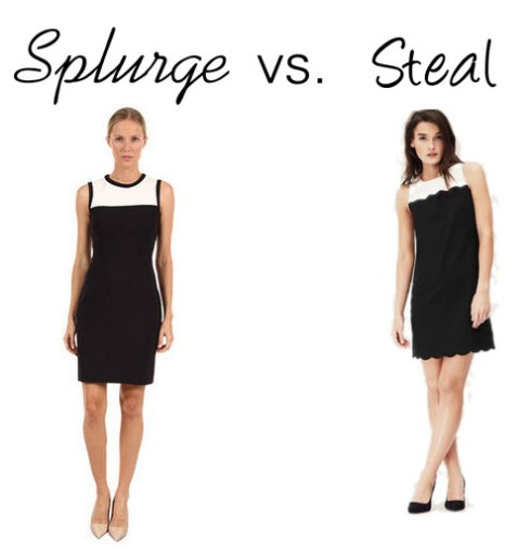 Splurge vs. Steal - Black & White shift dress