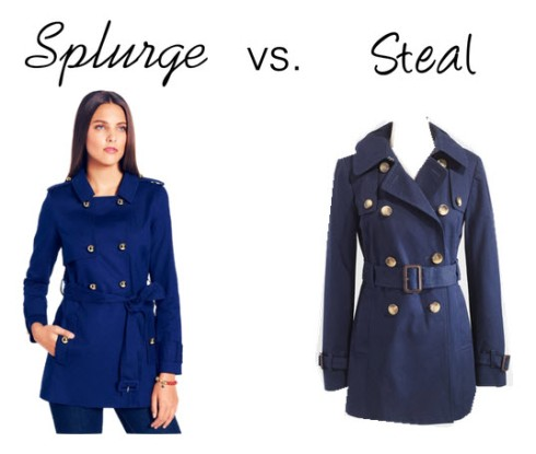Splurge vs. Steal - Navy Trench