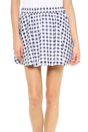 Joa Gingham Skirt