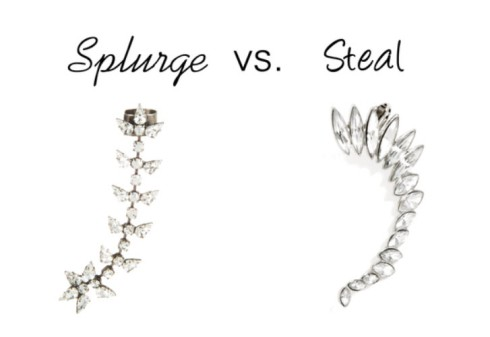 Splurge vs. Steal - ear cuff