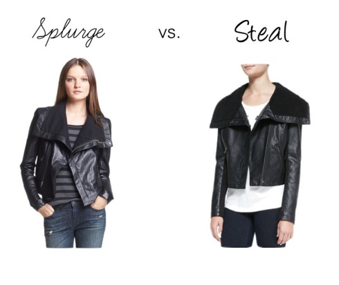 Splurge vs. Steal Leather Jacket