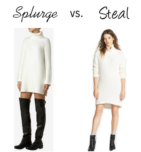 Splurge vs. Steal Sweater Dress