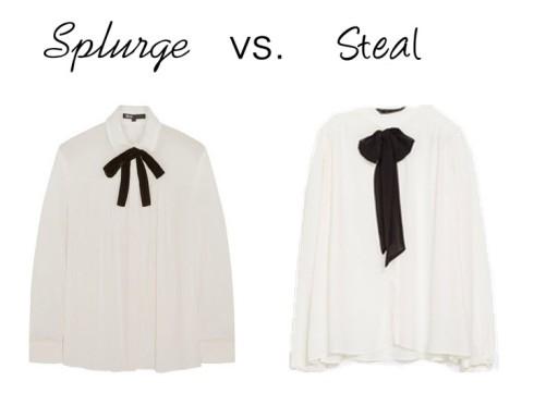 Splurge vs. Steal - Bow Blouse