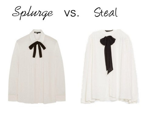 Splurge vs. Steal - Bow Blouse
