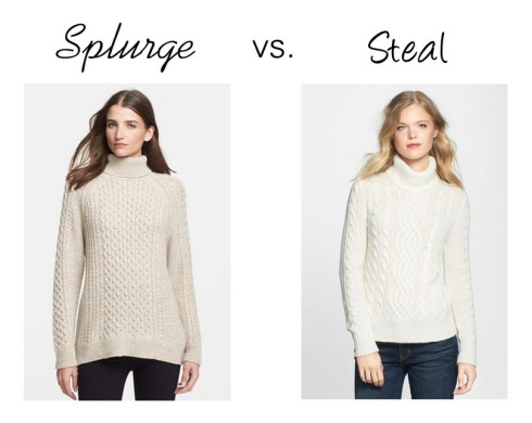 Splurge vs. Steal Cable Sweater