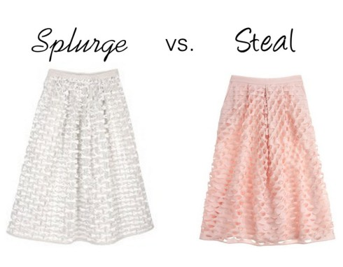 splurge vs. Steal - feminine skirt