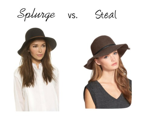 splurge vs. steal hat